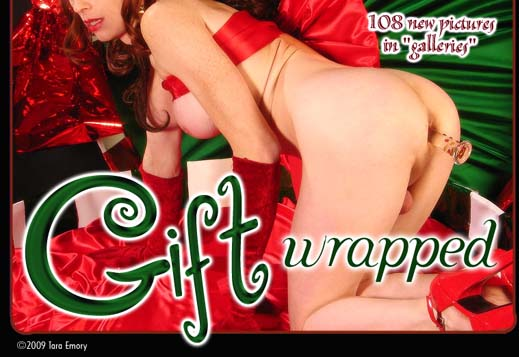 Tara Emory gift wrapped